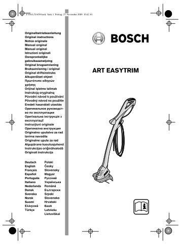 ART EASYTRIM - Bosch Elektrowerkzeuge für Heimwerker