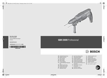 GBH 2600 Professional - Svh24