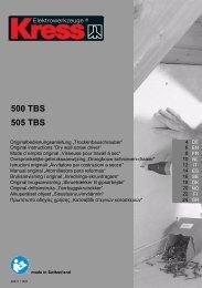 500 TBS 505 TBS - Svh24