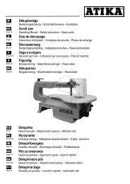 Notice d'utilisation - Atika