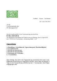 E I N L A D U N G Tagesordnung - Sportverein Hatzenport-Löf