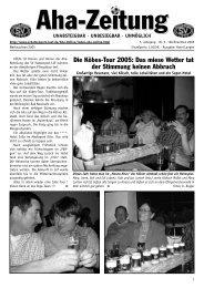 Aha-Zeitung 2006 - beim SV Hatzenport Löf