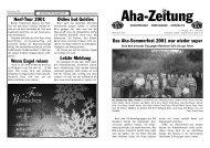 Aha-Zeitung 2001 - beim SV Hatzenport Löf