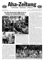 Aha-Zeitung 2002 - beim SV Hatzenport Löf