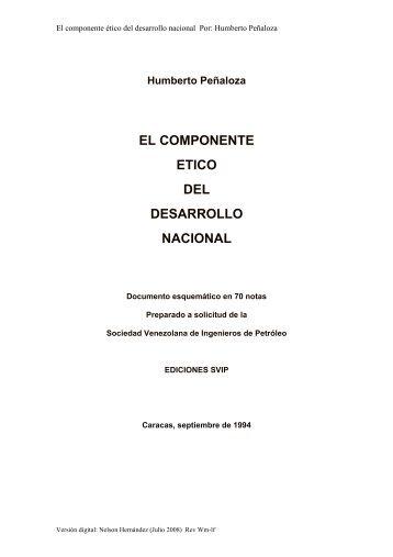 El Componente Etico del Desarrollo Nacional - Sociedad ...