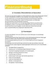 Finanzordnung des Schwimmverein Ludwigsburg 08 e.V.