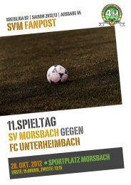 Fanpost 2013/05 SVM - FC Unterheimbach - SV Morsbach eV 1971