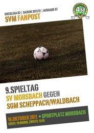 Fanpost 2012/07 SVM - SGM Scheppach/Waldbach - SV Morsbach ...