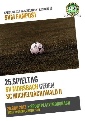 Fanpost 2012/12 SVM - SC Michelbach/Wald 2