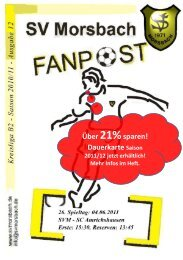 Fanpost 2011/12 SVM - SC Amrichshausen - SV Morsbach eV 1971