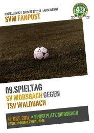 Fanpost 2013/04 SVM - TSV Waldbach - SV Morsbach eV 1971