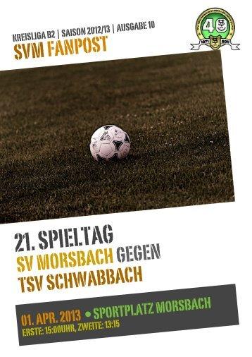 Fanpost 2013/10 SVM - TSV Schwabbach