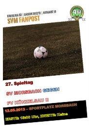Fanpost 2013/12 SVM - FV Künzelsau II - SV Morsbach eV 1971
