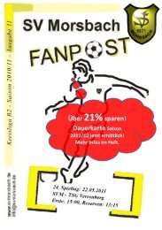 Fanpost 2011/11 SVM - TSG Verrenberg - SV Morsbach eV 1971