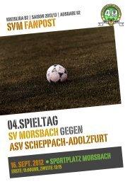 Fanpost 2013/02 SVM - ASV Scheppach-Adolzfurt