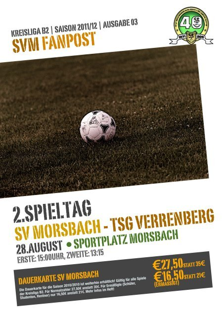Fanpost 2012/03 SVM - TSG Verrenberg