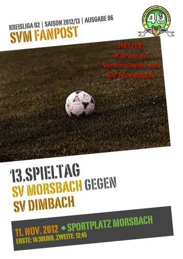13.SPIELTAG - SV Morsbach eV 1971