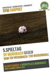 Fanpost 2012/05 SVM - SGM Weissbach/Niedernhall