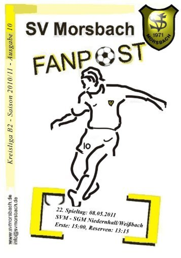 Fanpost 2011/10 SVM - SGM Niedernhall/Weißbach