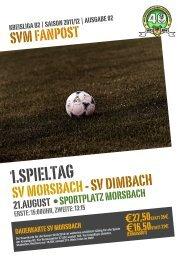Fanpost 2012/02 SVM - SV Dimbach