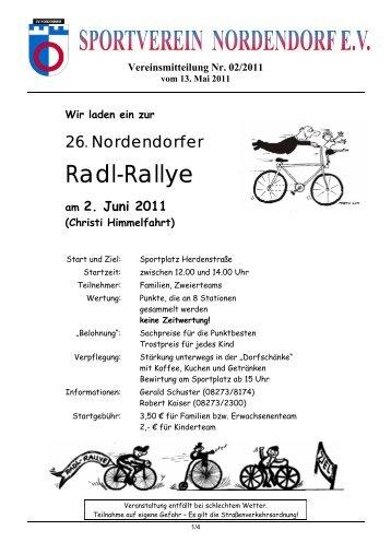 Vereinsmitteilung Nr. 02/2011 - Sportverein Nordendorf