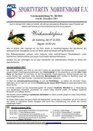 Vereinsmitteilung Nr. 04/2011 - SV Nordendorf