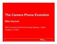 The Camera Phone Evolution - IEEE Consumer Electronics Society ...