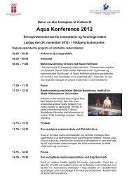 Aqua Konference 2012 - Dansk Svømmeunion