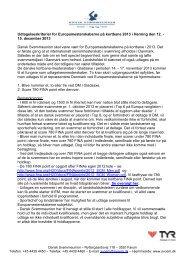 læs regler for kvalifikation her - Dansk Svømmeunion