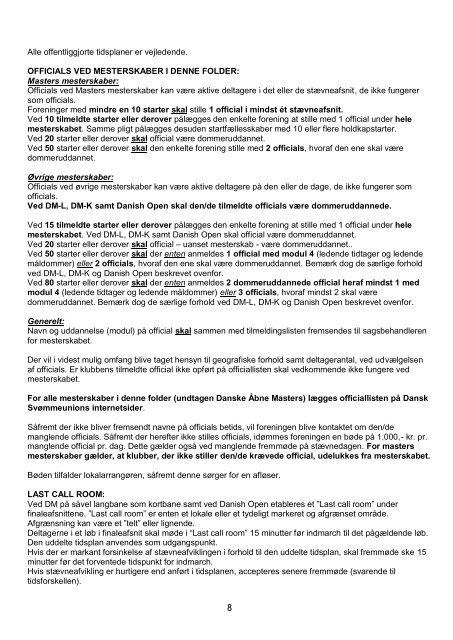 PDF format - Dansk Svømmeunion