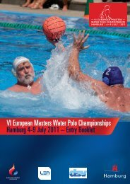 VI European Masters Water Polo Championships Hamburg 4 -9 July ...
