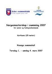 Innbydelse - Norges Svømmeforbund
