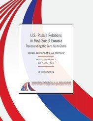 U.S.-Russia Relations in Post-Soviet Eurasia