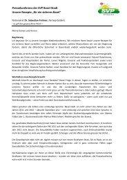 für ein sicheres Basel - SVP Basel-Stadt