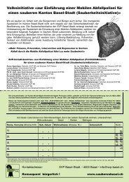 Volksinitiative «zur Einführung einer Mobilen ... - SVP Basel-Stadt