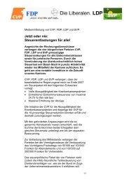 Jetzt oder nie: Steuerentlastungen für alle! - SVP Basel-Stadt