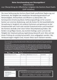 Keine Verschwendung von Steuergeldern ... - SVP Basel-Stadt