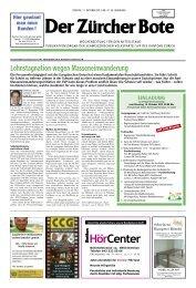 Ausgabe vom 11. Oktober 2013 - SVP Kanton Zürich