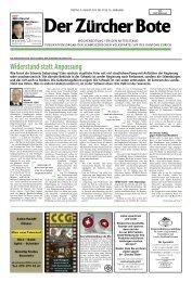 Ausgabe vom 09. August 2013 - SVP Kanton Zürich