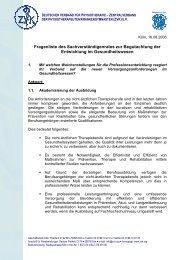 Deutscher Verband für Physiotherapie, Zentralverband der ...