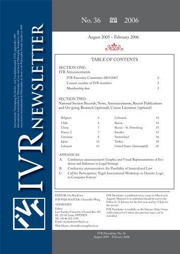 NEWSLET TER - Ivr2003.net