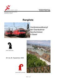 Rangliste - SVSE Schweiz. Sportverband öffentlicher Verkehr