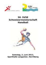 Programmheft - SVSE Schweiz. Sportverband öffentlicher Verkehr