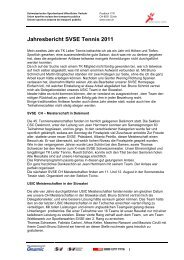 Jahresbericht SVSE Tennis 2011 - SVSE Schweiz. Sportverband ...