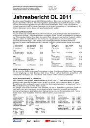 Jahresbericht 2011 - SVSE Schweiz. Sportverband öffentlicher ...