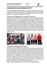 Jahresbericht 11 - SVSE Schweiz. Sportverband öffentlicher Verkehr
