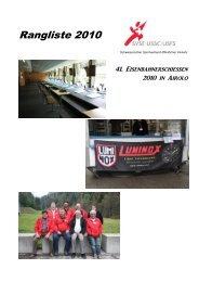 Rangliste 2010 - SVSE Schweiz. Sportverband öffentlicher Verkehr