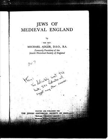 jews of medieval england
