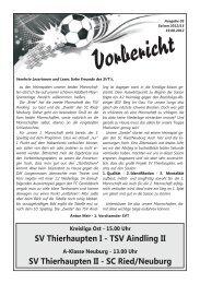 SVT aktuell 03 - Saison 12-13 - SV Thierhaupten