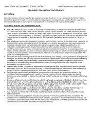 secondary classroom teacher–math definition - Saddleback Valley ...